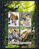 Bloc Sheet Animaux Felins Tigres  Animals Wild Cats Tigers Neuf  MNH ** Niger 2015 - Félins