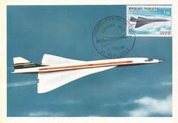 Avion - CONCORDE- Projet Franco-Anglais -  Vol D'Essai : 2 Mars 1969 - Philatélie Premier Jour - Cachet - Timbre - 1946-....: Ere Moderne