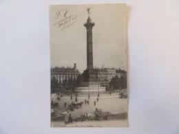 CPA Paris N°175 - La Place De La Bastille - Carte Animée - FM (Franchise Militaire) Circulée Le 30 Juin 1915 - Places, Squares