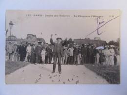 CPA Paris N°157 - Jardin Des Tuileries - Le Charmeur D'Oiseaux - Carte Animée, En 1907 - Parcs, Jardins