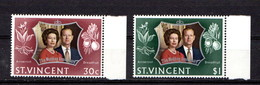 SAINT  VINCENT    1972    Royal  Silver  Wedding    Set  Of  2    MNH - St.Vincent (...-1979)