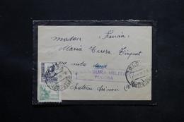 ESPAGNE - Enveloppe De Tolosa Pour La France En 1938 Avec Censure Militaire , Affranchissement Plaisant - L 25367 - Republikanische Zensur