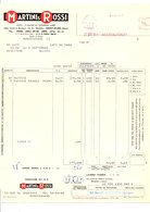 FACTURE CONGES MARTINI & ROSSI 1964 - France