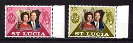 SAINT  LUCIA    1972    Royal  Silver  Wedding    Set  Of  2    MNH - Ste Lucie (...-1978)