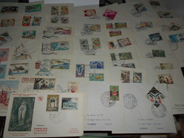 Collection , Monaco 37 Premiers Jours Des Annees 50-60 - Timbres