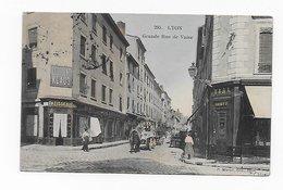 CPA 69 LYON Grande Rue De Vaise 1907 Couleurs Publicité Chocolat Klaus Port Simple Gratuit - Lyon