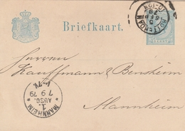 Portugal Entier Postal  Pour L'Allemagne 1879 - Postal Stationery