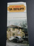 8f) TORINO BUSSOLINO DI GASSINO RISTORO DA DEFILIPPI DEPLIANT SENZA DATA ANNI60? BUONE CONDIZIONI  VEDI FOTO DIMENSIONI - Dépliants Touristiques