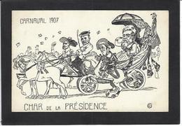 CPA Clemenceau Satirique Caricature Non Circulé Tigre Carnaval 1907 - Personnages