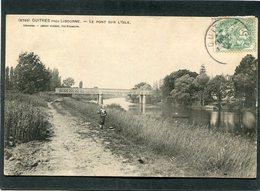 CPA - GUITRES Près Libourne - Le Pont Sur L'Isle, Animé - France