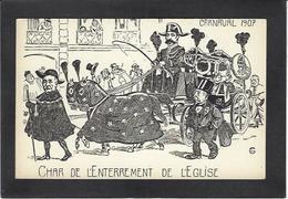 CPA Clemenceau Satirique Caricature Non Circulé Tigre Carnaval 1907 Maçonnique Franc Maçonnerie - Personnages