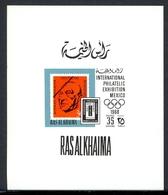 Ras Al Khaima Einzelblock MiNr. 302 Postfrisch MNH Adenauer (O6233 - Ras Al-Khaima
