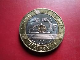 FRANCE   20  Francs  1992   -- Spl -- - France