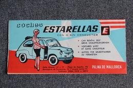 ESPAGNE - PALMA DE MALLORCA , Ancien Dépliant Touristique Avec Une Carte De L'île De MAJORQUE. - Dépliants Touristiques