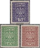Poland 261-263 (complete Issue) With Hinge 1928 State Emblem - 1919-1939 Republic