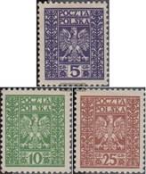 Poland 261-263 (complete Issue) With Hinge 1928 State Emblem - Ungebraucht