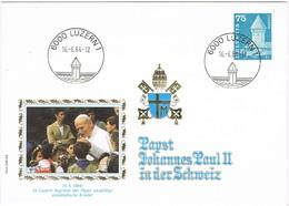 31990. Carta LUZERN (Suisse) 1984. Visit Papts Juan Pablo II. Visita Papa - FDC