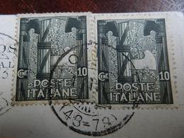 18482) ANNIVERSARIO DELLA MARCIA SU ROMA 10 CENTESIMI CARTOLINA VIAGGIATA 1929 - 1900-44 Vittorio Emanuele III