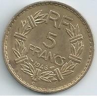 5 FRANCS 1946 C  Gouvernement Provisoire  Bronze Alu   N050 - France