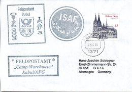 """(BWFP2) CACHET-Umschlag NATO-Einsatz BW Feldpost ISAF """"Feldpostamt Camp Warehouse Kabul/AFG"""" 23.4.03 FELDPOST 1371 - BRD"""