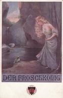 German Fairy Marchen -  Der Froschkonig , Frog Queen , Frosch Grenouille Old Postcard - Contes, Fables & Légendes