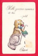 """Animaux-527Ph49  Mille Grosses Caresses De Ton Petit """"chien"""" Adoré, Un Chien Avec Noeud Papillon, Canne Et Chapeau - Chiens"""