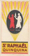 CARTE PARFUMEE - PUB ST RAPHAEL QUINQUINA  CALENDRIER  1927 1928 PARFUMEE - Perfume Cards