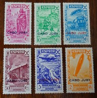 #582# CABO JUBY EDIFIL BENEFICENCIA 12/1 MNH**.VERY FINE. ZEPPELIN, TRAIN.AIRPLANE. - Cabo Juby
