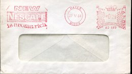 43796  England,  Red Meter Freistempel Ema, 1964  Hayes, New Nescafe Is Aroma Rich  , Coffee, Kafee, Cafè - Alimentation