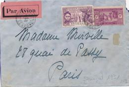 I92 - SÉNÉGAL - Enveloppe Par Avion - Sénégal Vers Paris France - 1931 - Poste Aérienne