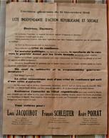 55 Liste Elections Generales 1946 JACQUINOT SCHLEITER POIRAT - France