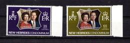 NEW  HEBRIDES  (english )    1972    Royal  Silver  Wedding    Set  Of  2    MNH - English Legend