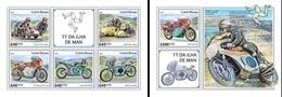 Guinea Bissau 2018, Sport, Moto, Gran Prix In Man, 4val In BF +BF - Motorbikes