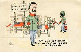 GUILLAUME II - '' ET MAINTENANT ... JE NE SAIS MÊME PLUS OU M'ASSEOIR ''  - - Satiriques