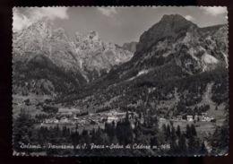 C952 SELVA DI CADORE - PANORAMA DA ALBERGO SANTA FOSCA B\N VG 1953 - Italia