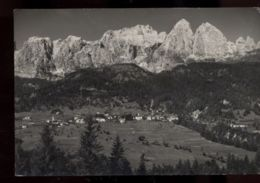 C968 FRASSNÈ AGORDINO - PANORAMA DALL'AEREO  B\N VG 1958 - Italia