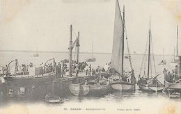 Afrique Occidentale Française, Sénégal, Dakar - Appontements à Quai - Photo Fortier, Carte N° 85 Dos Simple Non Circulée - Sénégal
