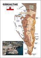 Gibraltar Map New Postcard Landkarte AK - Gibraltar