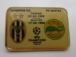 Pins Champions League Juventus Torino PC MANTES FINALE 1996 Distintivo Calcio Soccers UEFA Juve Spilla - Calcio