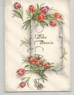 Leve Maria. Parchemin, Bouquets De Tulipes. - Fête Des Mères