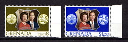GRENADA    1972    Royal  Silver  Wedding    Set  Of  2    MNH - Grenade (...-1974)