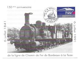 150ème Anniversaire De La Ligne De Chemin De Fer De Bordeaux à La Teste Locomotive Midi 030 B 179 - Bordeaux