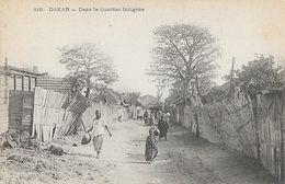 Dakar, Sénégal - Dans Le Quartier Indigène - Edition Fortier - Carte N° 116 Non Circulée - Sénégal