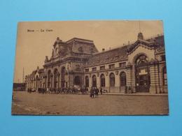 La GARE > Mons ( Detail : Militairen ) Anno 19?? ( Zie/voir Photo > Krassen Op Kaart ) ! - Mons