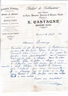 19-X Castagné Atelier De Ferblanterie,.Zinguerie, Plomberie, Lampisterie...Beaulieu...(Corrèze)...1911 - France