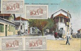 Afrique Occidentale Française - Sénégal, Dakar - Boulevard Pinet-Laprade Dans Le Bas - Carte Colorisée N° 14 - Sénégal