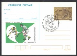 YN319   Italy 1999 Postal Stationery VII European Hockey Championship + Specal Postmark - Hockey (sur Gazon)