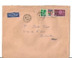 """Lettre Algérie Avec Timbres Français  Surchargés """"E.A."""" , 1962 - Algérie (1924-1962)"""