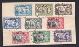 St Helena MV Dunnottar Castle Ship Cachet Cover Displaying Nine King George VI Stamps 1952 - Saint Helena Island