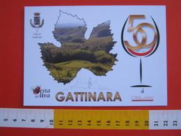 G.2 ITALIA GATTINARA VERCELLI - CARD NUOVA - 2017 50 ANNI DOC FESTA DELL' UVA VINO WIN VIN FOGLIA - Agricoltura